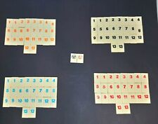 Rummikub Numbers Complete Set of 106 Game Replacement Tiles 1997 Crafts Hobbies