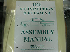 1960 FULLSIZE CHEVY & EL CAMINO (ALL MODELS) ASSEMBLY MANUAL