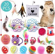 20X Katzen Spielzeug Set Katzenspielzeug Katzenangel Bällen Mäusen Toy Für Cat