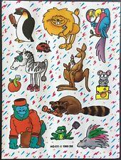 Vintage Stickers - 3M - Cartoon Animals - Mint Condition!!