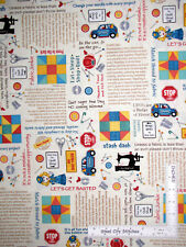 Quilt Sew Theme Row By Row Cotton Fabric Timeless Treasures C5063 By The Yard