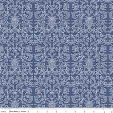 Into the garden Damask Navy Riley Blake Fabric FQ 50cm X 55cm + More 100% Cotton
