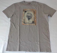 NWT Lucky Brand Short Sleeve Gray Graphic T-Shirt      Large     L14