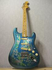 1988/1989 Fender Japan MIJ Fuji-Gen Blue PAISLEY FLORAL Stratocaster Fujigen
