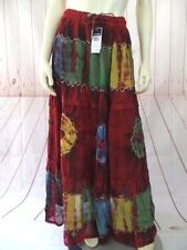 Ma Guggi Skirt One Size Cranberry Rayon Tie Dye Lace Tiered Sheer Overlay New