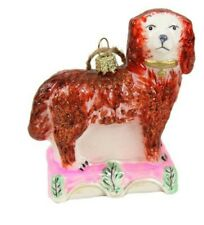 """CODY FOSTER GLASS ORNAMENT """"STAFFORDSHIRE DOG"""" NEW * FREE SHIPPING"""