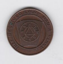More details for they received every man a penny masonic token in good extremely fine condition.