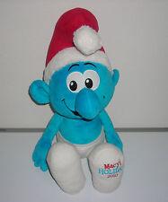 """SMURFS MACY'S HOLIDAY 2010 CHRISTMAS SANTA HAT 21"""" PLUSH TOY"""