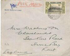 SIERRA LEONE KGVI Cover Freetown Air Mail*ELDER DEMPSTER LINES*Maritime 1948 Q29