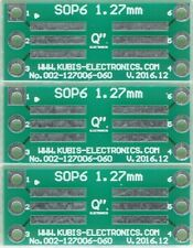 "3 PCS. - SO6,SOP6,SOIC6 1.27mm(0.05"") naar DIP6 0.6"" socket. [NL]"