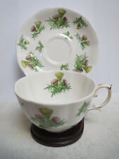 ROYAL ALBERT - Highland Thistle Tea Cup and Saucer - Early