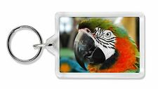 Face of a Macaw Parrot Photo Keyring Animal Gift, AB-PA75K