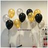 "10"" Black Gold Silver PLAIN Balloons Party Decor New Year Eve Baloons Graduation"