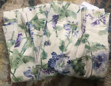 LAURA ASHLEY Linen Look Fully Lined Hepworth Purple Green & Blue Floral Curtains