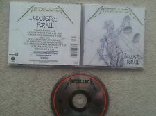 Metallica and justice for all GERMAN FIRST PRESS CD 1988  BAD CONDITION !