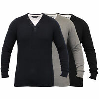 Mens Knitted Jumper Ribbed Pullover Top Winter Sweater By Dissident