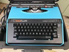 Vintage Brother Correct-O-Riter Portable Electric Typewriter & Hard Case.