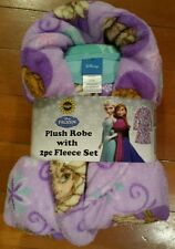 Nwt Disney Frozen Girl 3 Piece Fleece Pajama Set Sz 10 Msrp $60