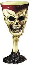 Skull Goblet - Gothic Wine Goblet - Skull Footed Glass, New Tough Pvc Plastics