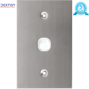 Stainless Steel One Gang Single Light Switch White Vertical 2 Way Switch