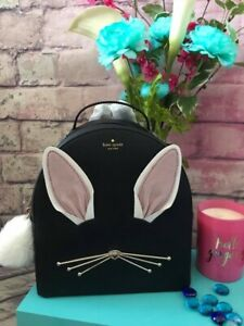 NWT🥕 Kate Spade Bunny Rabbit Sammi Hop To It Backpack Bag Purse Black