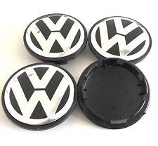 Set 65mm VW Wheel Rim Center Cap Golf Polo Jetta Mk4 Mk5 Touareg PASSAT B5 B6