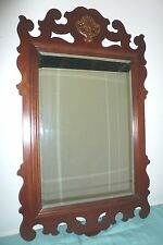 Exceptional Chippendale Mahogany Mirror-Beveled Glass
