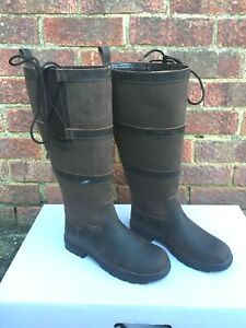 NEW PoleStar London Leather Riding Country Boots Footwear XX Wide Calf BROWN