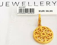 GOOIX Silber 925 vergoldet Charm Charms Anhänger NEU Mandala Blume gold 203