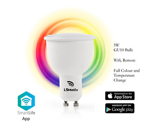 GU10 A+ SMART WIFI LED REMOTE/ ALEXA 5W SPOTLIGHT RGBW+2700K-6500K CCT LSMOTIV