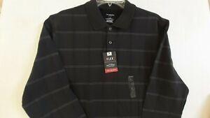 New Van Heusen Men's Knit Large Greyish Black Flex Classic Fit Long Sweater $56