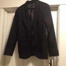 Kenneth Cole New York Satin Around Jacket Black Size Medium 40