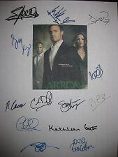 Arrow Signed TV Script x13 Stephen Amell Katie Cassidy David Ramsey Holland rpnt