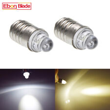E10 Lamp LED Bulb 3V DC White Warm White MES 1447 Screw for Torch bike bicycle