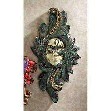 Italian Italian Art Venetian Carnivale Peacock Maiden Ornamental Wall Mask