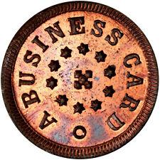 1863 A Business Card Patriotic Civil War Token R8 Rare Die PCGS MS66