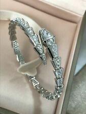 Bvlgari Serpenti 18k White Gold Tubogas Spiral Diamond Bracelet