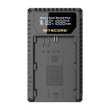 Nitecore UCN1 USB Dual Slot Battery Charger for Canon Camera LP-E6/LP-E6N/LP-E8