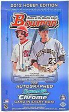 2012 Bowman Chrome Baseball - Factory Hobby Boxes Harper Cole