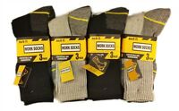 3 / 6 Pairs Mens Ultimate Work Boot Socks Size 6-11 Cushion Sole Reinforced Toe