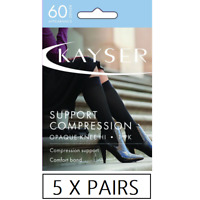 WOMENS 10 PACK KAYSER MICROFIBRE OPAQUE KNEE HI/'S Anklets 3//4 Length Stockings