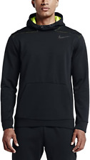 Men's Nike Pullover Therma Sphere Training Hoodie S Black Volt Gym Casual Grey