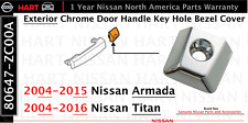 Nissan Armada Titan Left Driver Exterior Chrome Door Handle Key Hole Bezel Cover