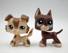 2pcs/Lot   Littlest Pet Shop Great Dane Dog LPS#1519 #2210 Collie Dog