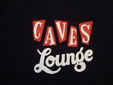 Caves Lounge Beer Bar T Shirt L Black Arlington Texas