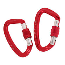 2x 24Kn D Ring Carabiner Karabiner for Rock Climbing Tree Carving Rappelling