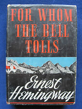 FOR WHOM THE BELL TOLLS by ERNEST HEMINGWAY First Edition, First Issue in Jacket
