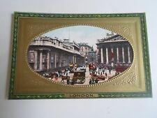 LONDON Bank of England+Royal Exchange Raphael Tuck+Sons Framed Gem Glosso §A2175
