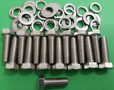 Triumph Stag V8 Engine Stainless Exhaust Manifold Header Hexagon Bolts Set Of 15