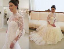 Choker Neck Sleeveless Lace Wedding Dresses